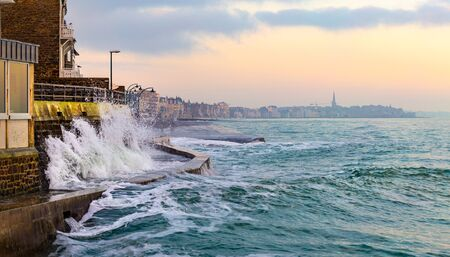 High tide in Saint-Malo, Brittany, France