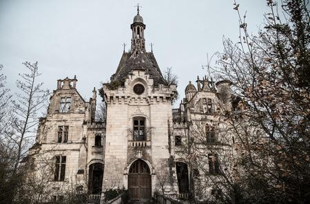 Ruin of a french castle, La Mothe Chandeniers Redakční