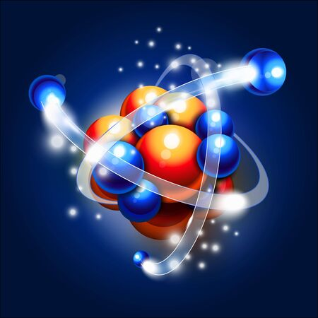 Molecule, atoms and particles in motion Stock fotó