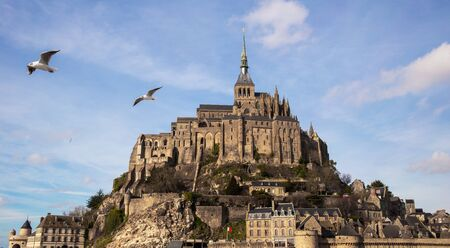 Mont Saint-Michel and his abbey in Normandy, France Stock fotó
