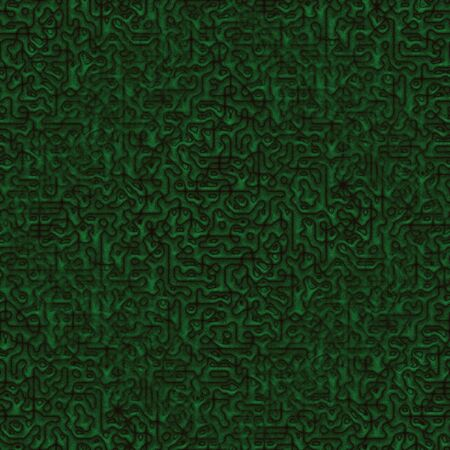 Seamless abstract pattern in green and brown tones Stock Photo