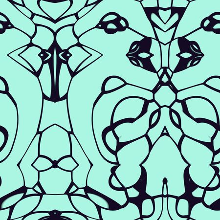 kelly: Seamless abstract pattern in kelly green and black tones