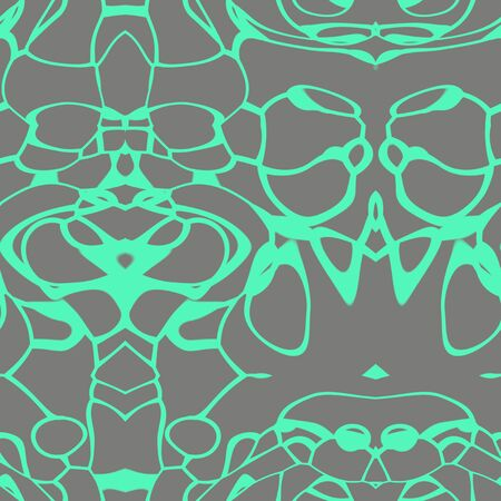 Seamless abstract pattern in kelly green and grey tones