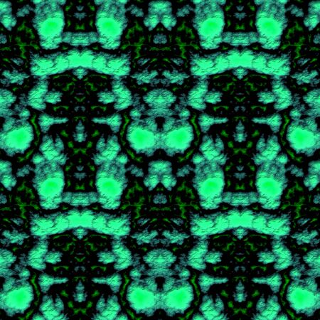 kelly: Seamless abstract pattern in green and black tones