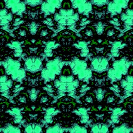Seamless abstract pattern in green and black tones
