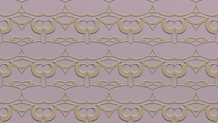 베이지 색 톤의 스탬프 효과와 반복 된 패턴에서 장식 된 추상적 인 배경 스톡 콘텐츠