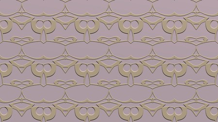 Abstract background with ornament from repeated patterns with effect of stamping in beige tones Stok Fotoğraf