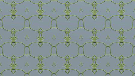 녹색 색조의 스탬프 효과와 반복 된 패턴에서 장식 추상적 인 배경