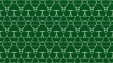 Abstract background with ornament from repeated patterns with scribbles in kelly green and green tones