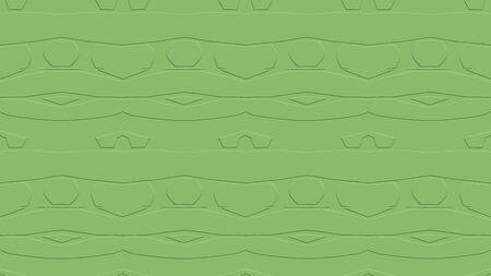 녹색 색조의 효과와 반복 된 패턴에서 장식으로 원활한 추상적 인 배경