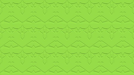 Seamless abstract background with ornament from repeated patterns with effect of stamping in green tones