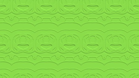 stamping: Seamless abstract background with ornament from repeated patterns with effect of stamping in green tones