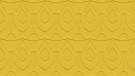 노란 색조로 각인의 효과와 반복 된 패턴에서 장식과 함께 완벽한 추상적 인 배경 스톡 콘텐츠