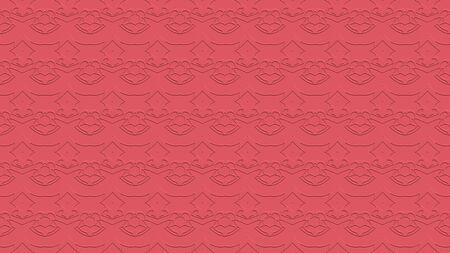 핑크 색조의 스탬프 효과 효과 반복 된 패턴에서 장식으로 원활한 추상적 인 배경 스톡 콘텐츠