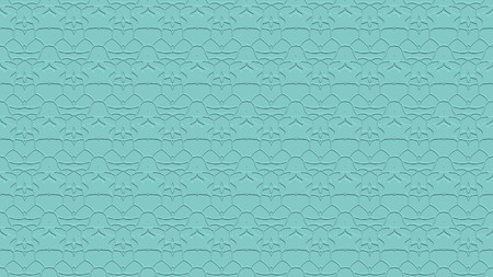 Seamless abstract background with ornament from repeated patterns with effect of stamping in blue tones