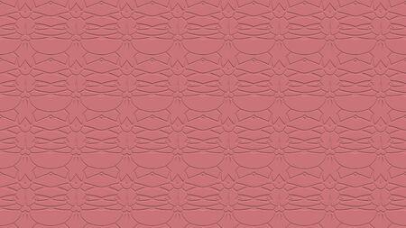 붉은 색조로 각인의 효과와 반복 된 패턴에서 장식과 원활한 추상적 인 배경