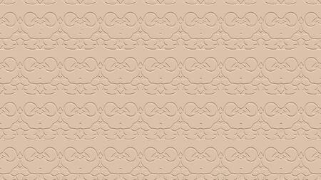 베이지 색 톤의 스탬프 효과 효과 반복 된 패턴에서 장식으로 원활한 추상적 인 배경 스톡 콘텐츠
