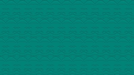 stamping: Seamless abstract background with ornament from repeated patterns with effect of stamping in teal tones