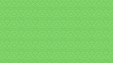 Seamless abstract background with ornament from repeated patterns with effect of stamping in light green tones Stock Photo