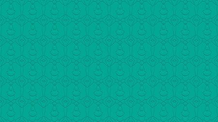 터키석 색조의 스탬프 효과 효과 반복 된 패턴에서 장식으로 원활한 추상적 인 배경 스톡 콘텐츠
