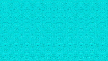 녹청 색조의 스탬프 효과 효과 함께 반복 된 패턴에서 장식으로 원활한 추상적 인 배경