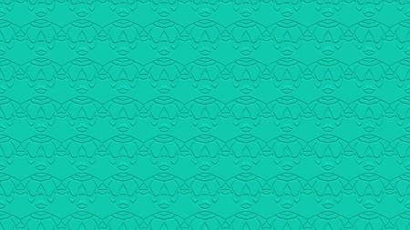 아쿠아 색조에 각인의 효과와 반복 된 패턴에서 장식으로 원활한 추상적 인 배경