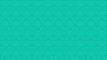 Seamless abstract background with ornament from repeated patterns with effect of stamping in aqua tones