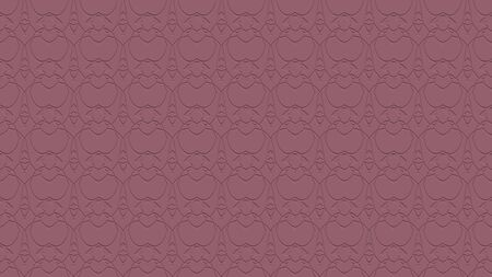 Seamless abstract background with ornament from repeated patterns with effect of stamping in mauve tones