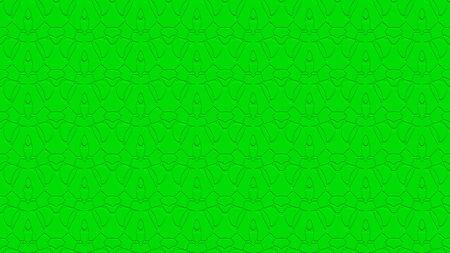 밝은 녹색 색조의 스탬프 효과 효과 함께 반복 패턴에서 장식으로 원활한 추상적 인 배경