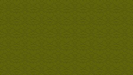 올리브 색조로 각인 된 효과가 반복 된 패턴에서 장식 된 매끄러운 추상적 인 배경