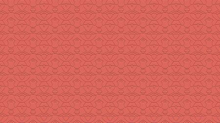 연어 색조의 스탬프 효과 효과 반복 패턴에서 장식과 원활한 추상적 인 배경 스톡 콘텐츠