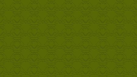 올리브 녹색 색조의 스탬프 효과 효과 반복 된 패턴에서 장식으로 원활한 추상적 인 배경 스톡 콘텐츠