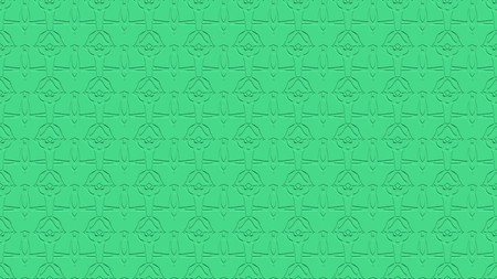 Seamless abstract background with ornament from repeated patterns with effect of stamping in sea green tones Stock Photo