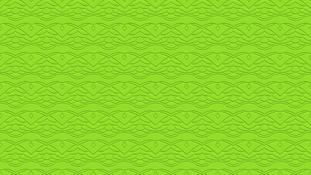 Seamless abstract background with ornament from repeated patterns with effect of stamping in lime tones