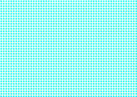 printed material: Abstract dotted colored backdrop in newsprint printing style with circles, squares and lines, bright background for greeting cards, posters, advertising Stock Photo