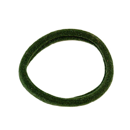 One ordinary soft green hair band isolated on white background