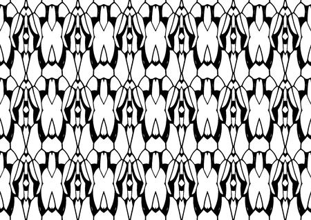 Seamless vector illustration, modern monochrome background in white and black tones with abstract pattern.