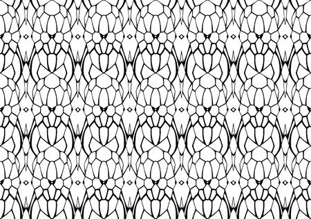 Seamless vector illustration, modern monochrome background in white and black tones with abstract pattern