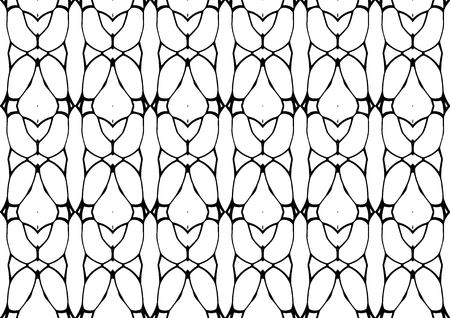 Seamless vector illustration, modern background in white and black tones with abstract pattern Ilustração