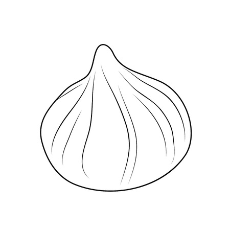 Vector illustration, isolated meringue in black and white colors, outline hand painted drawing