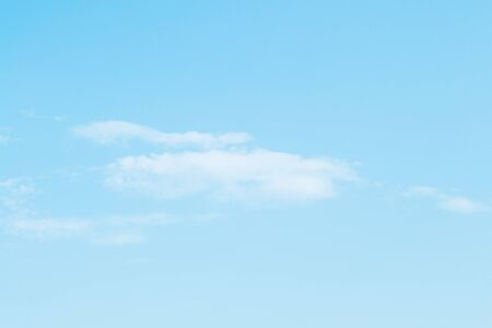 Beautiful blue sky with few clouds on bright  sunny day