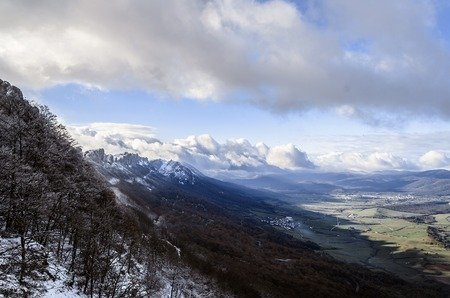 Beautiful view over the mountains of Navarra in Spain  photo