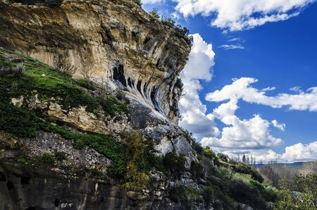 Beautiful rock and amazing sky in to the mountain of Navarra in Spain. photo