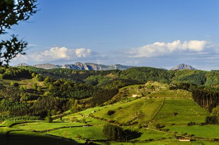 navarra: Beautiful view from the mountain in Spain.
