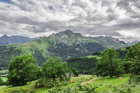 Amazing landscape at the Pyrenees mountains in Spain photo