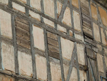 fachwerk: Fachwerk wall in tilzit Stock Photo