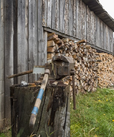 woodshed: wood-shed