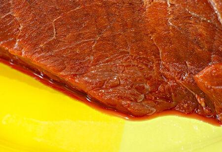 alimentacion natural: alimento natural de la carne de alce Foto de archivo