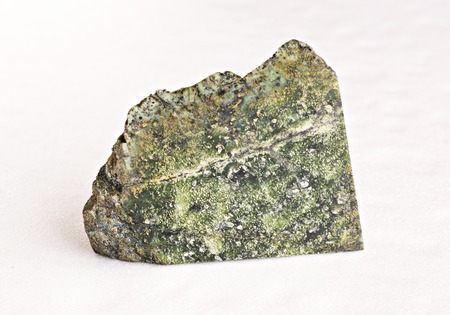 splendour: Urals stone -  serpentinite on white  Stock Photo