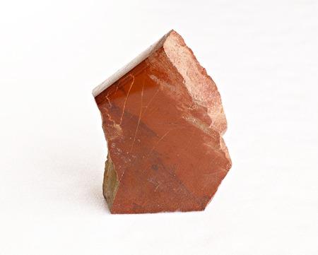 Ural's stone - jasper op wit Stockfoto
